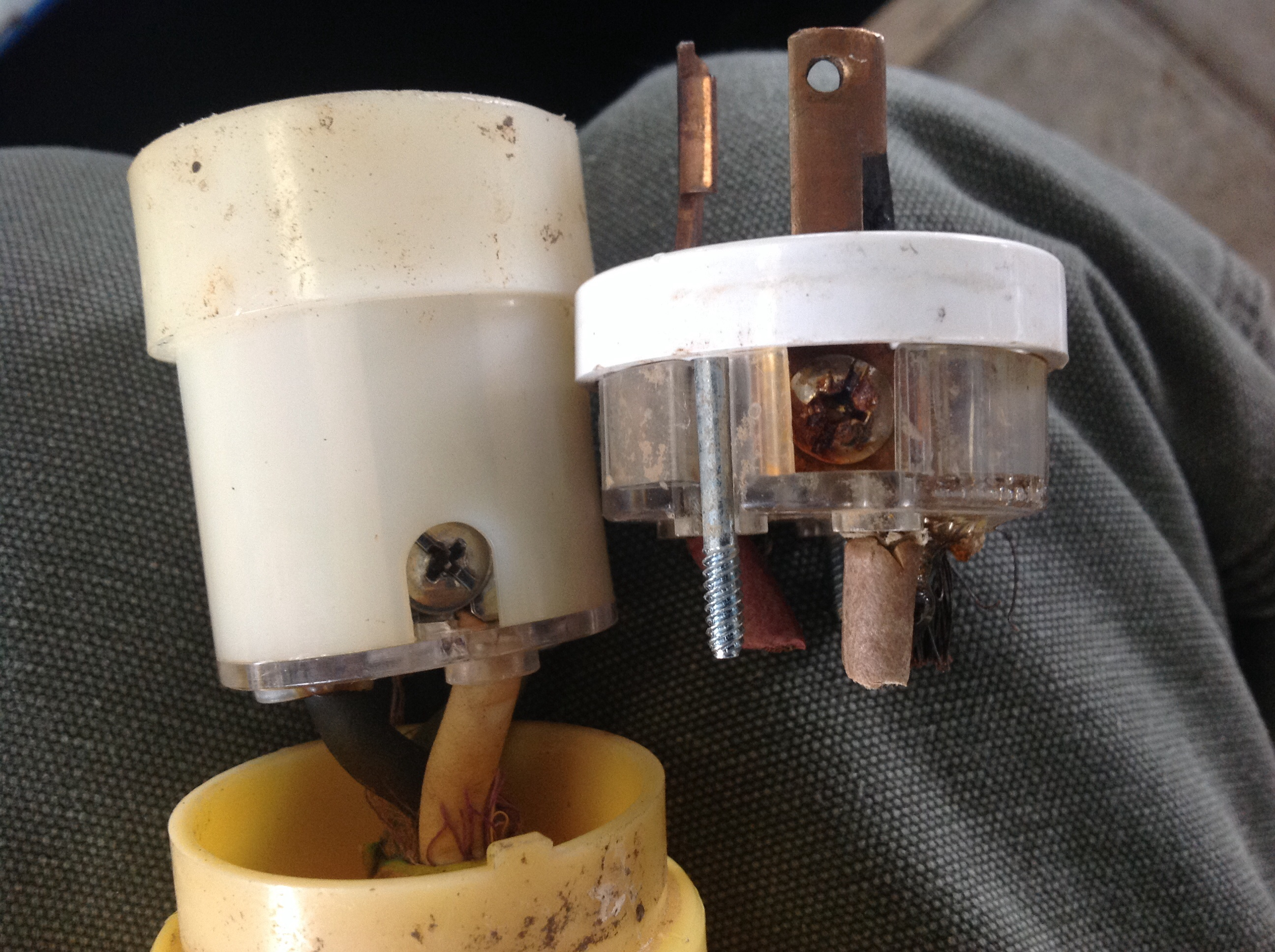 Boating Lessons Learned Burned Marine Electrical Shore Power Plug Wiring A Lesson Vs Standard
